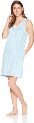 Aria Women's Printed Sleeveless Sleepshirt