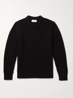 Mr P. Textured-Cashmere Sweater - Men - Black