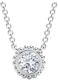 Forevermark Tribute Collection Diamond (1/4 ct. t.w.) Necklace with Beaded Detail in 18k Yellow, White and Rose Gold