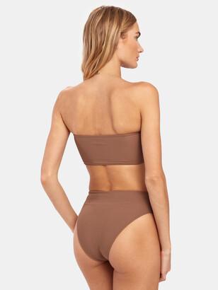 Frankie's Bikinis Jenna High Rise Rib Bottom