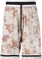 John Elliott elasticated camouflage-print shorts