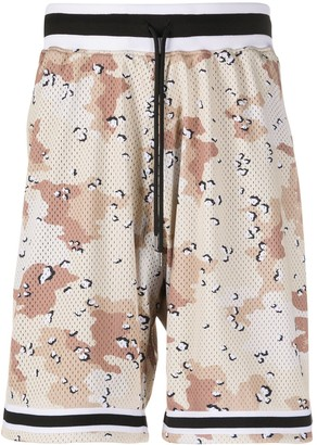 John Elliott Elasticated Camouflage-Print Shorts