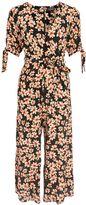 Topshop Daisy Print Wrap Jumpsuit