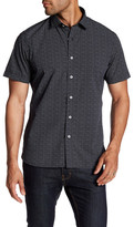 Toscano Micro Square Print Regular Fit Shirt
