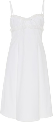 Brock Collection Ruffle-Trimmed Cotton-Blend Midi Dress