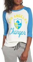 Junk Food Clothing Women's Nfl Los Angeles Chargers Raglan Tee