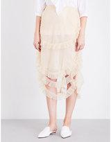 Simone Rocha Asymmetric tulle skirt