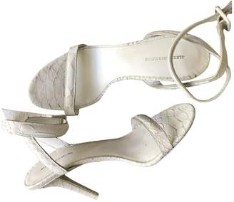 Alexander Wang White Leather Sandals