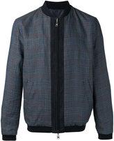 Etro checkered bomber jacket - men - Cotton/Linen/Flax/Polyamide/Llama - M