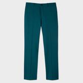 Paul Smith Men's Slim-Fit Teal Wool Trousers