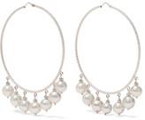 Carolina Bucci Recharmed 18-karat White Gold Pearl Hoop Earrings
