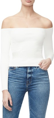 Good American Off the Shoulder Sweater (Regular & Plus Size)