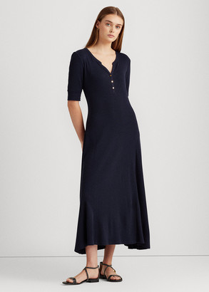 Ralph Lauren Cotton Fit-and-Flare Dress