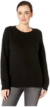 NYDJ Velvet Tie Back Sweater (Black) Women's Sweater