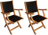 Regal Teak Black Teak Providence Armchairs - Set of 2