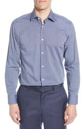 BOSS Sharp Fit Dot Dress Shirt
