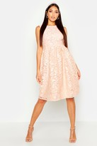 Boohoo Boutique Aria Embroidered Organza Skater Dress