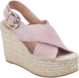 Marc Fisher Aria Suede Wedge Sandal