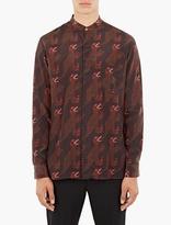 Paul Smith Red Dinosaur Motif Grandad Shirt