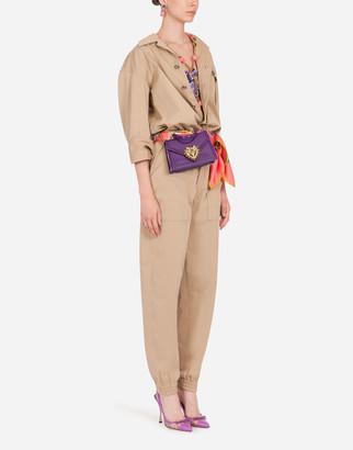 Dolce & Gabbana Gabardine Safari Jumpsuit
