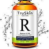 BEST Retinol Serum for Wrinkles & Fine Lines - [BIG 2-OZ Bottle] - Vitamin A + Hyaluronic Acid, Vitamin E, Organic Green Tea, Jojoba Oil - Use with TruSkin Naturals Vitamin C Anti Aging Serum