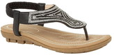 Lotus Shoes Delia Flat Toe-Post Sandals