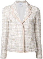Agnona woven blazer - women - Cotton/Polyamide/Wool - 46