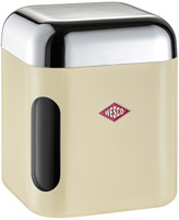 Wesco Square Canister with Window - Almond