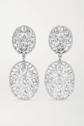 Buccellati 18-karat White Gold Diamond Earrings
