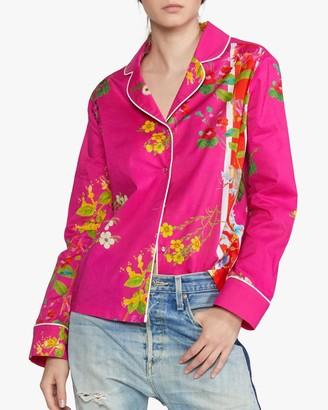 Cynthia Rowley Botanical Print Pajama Shirt