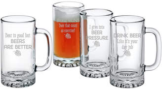 Susquehanna Glass Set Of Four 16Oz Beers Are Better Pub Mugs