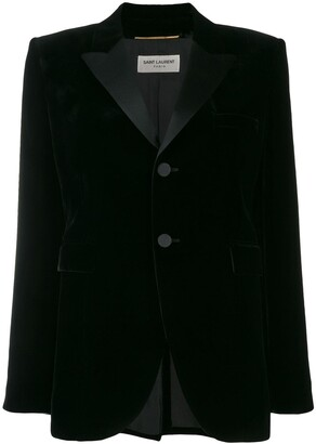 Saint Laurent Velvet Tailored Blazer