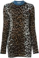 Stella McCartney cheetah crew neck jumper