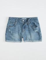 Rsq Mid Rise Cuff Girls Medium Wash Shorts