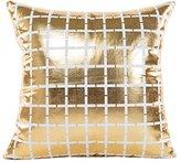 Jacquard Pillowcase,Han Shi Gold Geometric Foil Printing Sofa Square Throw Cushion Cover (E, White)