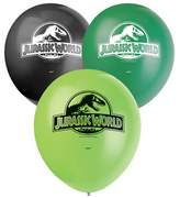 Unique Party Jurassic World Childrens/Kids Official Latex Balloons (Pack Of 8)