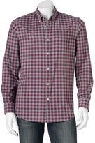 Men's SONOMA Goods for LifeTM Modern-Fit Plaid Poplin Button-Down Shirt