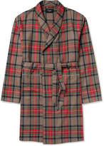 Fear Of God Contrast-Tipped Checked Wool Coat