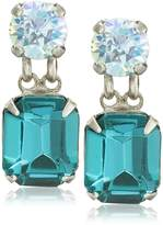 "Sorrelli Ocean"" Crystal Octagon and Round Post Stud Earrings"