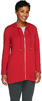 Susan Graver Weekend French Terry Hooded Jacket w/ Side Pockets