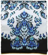 Roberto Cavalli Plumes Collection Printed Silk Blanket