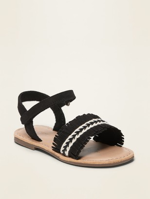 Old Navy Faux-Suede Fringed Sandals for Toddler Girls