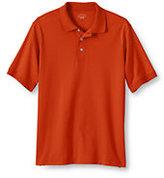 Lands' End Men's Regular Banded Short Sleeve Pima Polo-Green Biscay