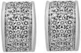 Estate Jewelry Estate Rossetti 18k White Gold Diamond Loop-Post Earrings