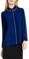 Vince Camuto Women's Piped Trim Blouse