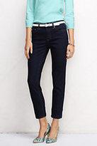 Classic Women's Mid Rise Slim Leg Crop Jeans-Rich Raspberry