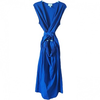 Rodier Blue Cotton Dress for Women