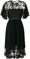Three floor Midnight lace midi dress