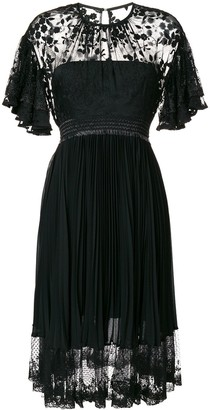 Three floor Midnight lace midi dress