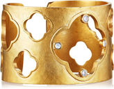Evelyn Knight Gold Hammered Clover Cuff